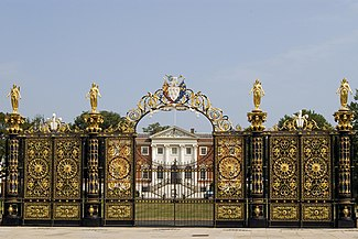 The Golden Gates of Warrington Town Hall