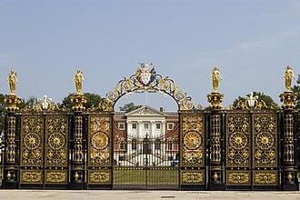 Warrington Town Hall - Park gates