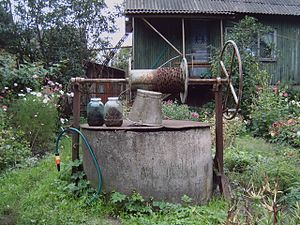 Poisoning the well - Image: Water well in Latvia