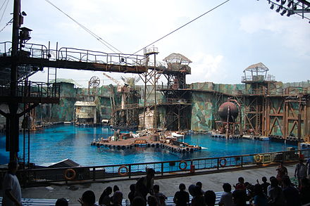 The arena at Universal Studios Singapore Waterworld arena (Universal Studios Singapore).jpg