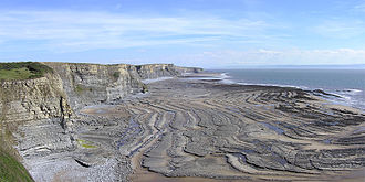 Wave-cut platform - Wave-cut platform at Southerndown, South Wales, UK
