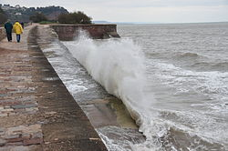 Waves breaking on the sea wall at Teignmouth (0147).jpg