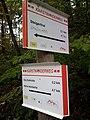 Wegweiser Karstwanderweg zwischen Steigerthal und Kalkhuette (Ghs Kalkhuette 0,2 km).jpg