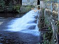Weir at end of formal water gardens. - geograph.org.uk - 493290.jpg
