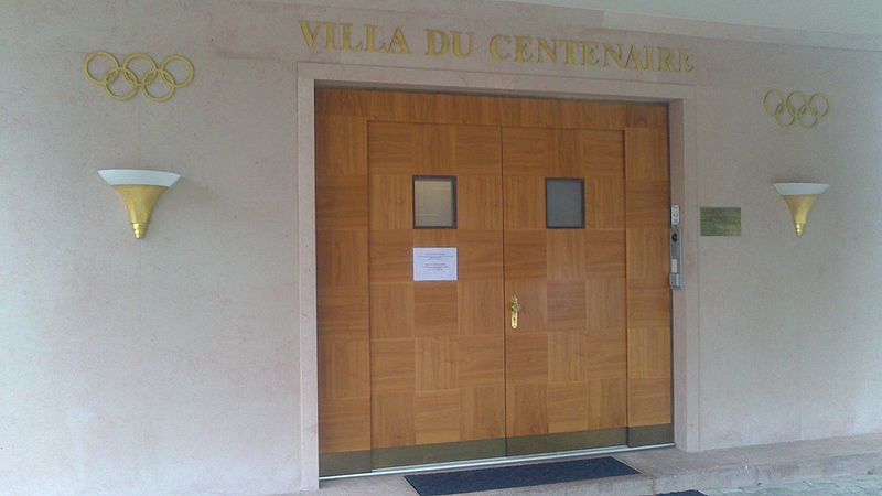 File:Wejście do Villi du Centenaire, Olympic Studies Centre, Lausanne.jpg