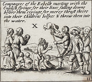 Atrocity propaganda - Image: Wenceslaus Hollar – supposed Irish atrocities during the Rebellion of 1641