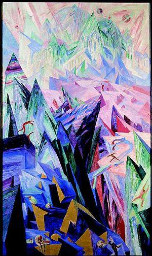 """Wenzel Hablik - """"Der Weg des Genius"""" (""""The Path of the Genius""""), 1918"""