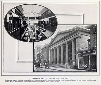 Westminster Arcade - Image: Westminster arcade from Views of Providence (1900)
