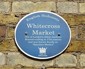 Whitecross Street - Whitecross-Street-Market plaque