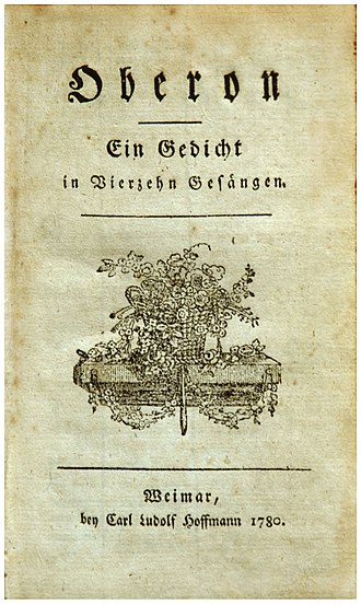 Oberon (poem) - Title page of the first edition, without the author's name.