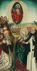 Vision des hl. Dominikus von Christus mit den drei Lanzen
