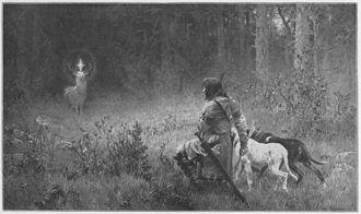 "Hubertus - ""The Conversion of Holy Hubertus"", Wilhelm Räuber (1849-1926)"