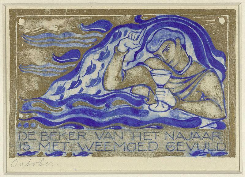 File:Willem Arondeus - De beker van het najaar is met weemoed gevuld, october - Rijksmuseum Amsterdam - RP-T-1930-88.jpg