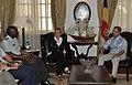 William E. Ward, Virginia Blaser and James Michel, August 2009.jpg