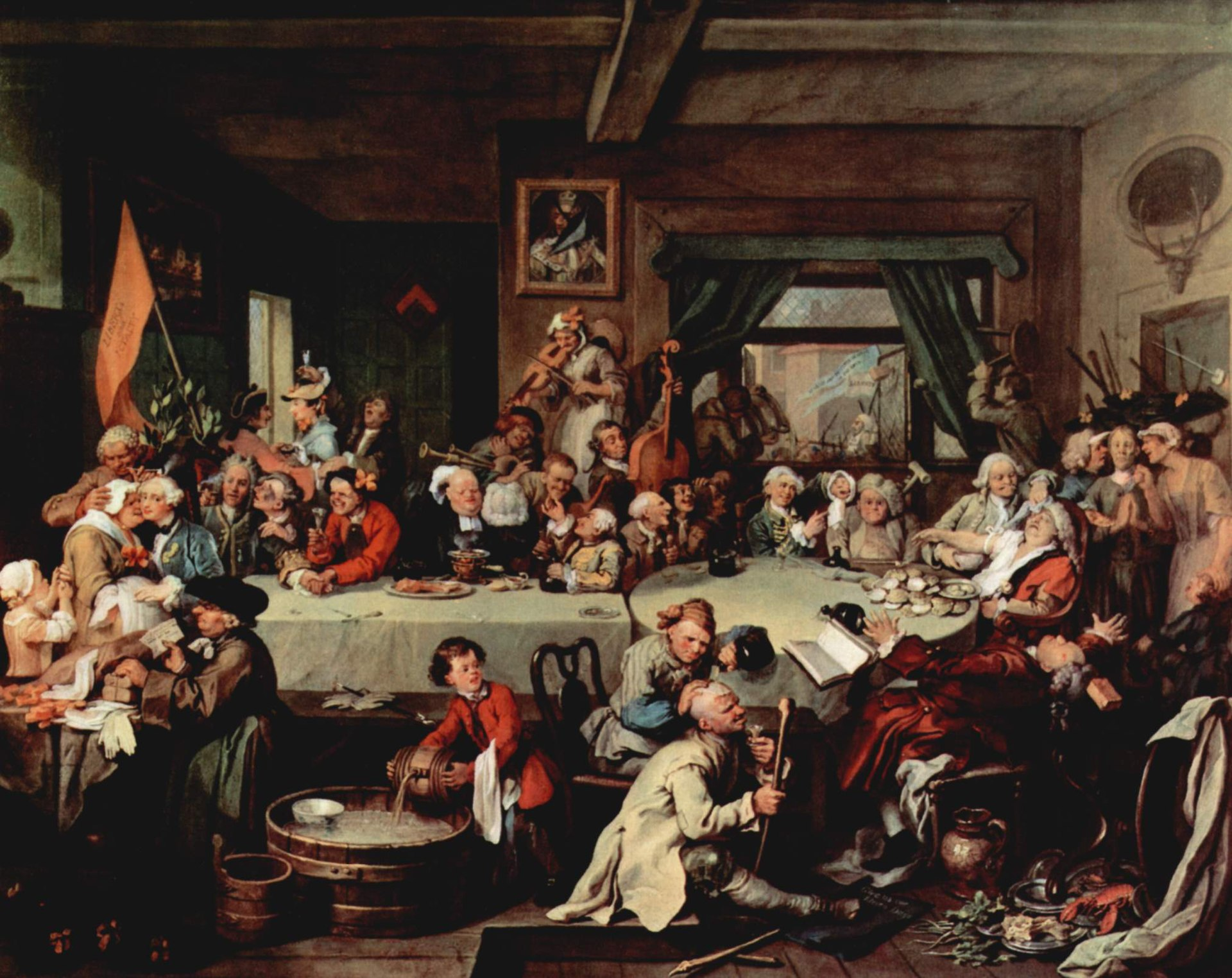 William Hogarth painting (c. 1755) which is the main source for