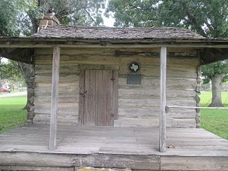 Luling, Texas - William Johnson shotgun-style cabin in Blanche Square in Luling