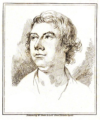 William Parry (artist) - Engraving of William Parry from James Northcote's biography of Joshua Reynolds (1819)