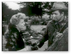 Winchester '73 - Shelley Winters and James Stewart