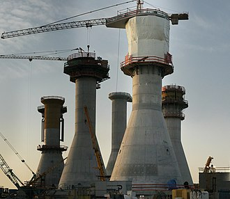 Thorntonbank Wind Farm - Image: Windmill bases (Oostende from southwest)