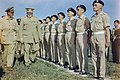 Winston Churchill inspecting men of the 4th Queen's Own Hussars at Loreto aerodrome, Italy, 25 August 1944. TR2277.jpg