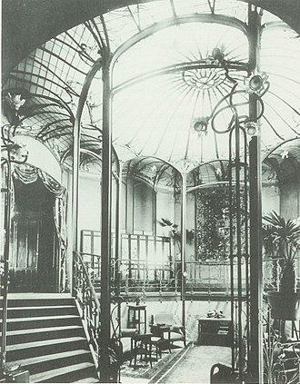 Hôtel van Eetvelde - Image: Winter Garden in the Hôtel Van Eetvelde (rue Palmerston, 4, Brussels)