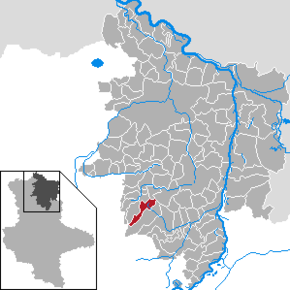Location of Wittenmoor within Stendal district