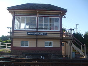 Wittersham Road railway station - Wittersham Road signal box.