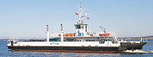 Wittow Ferry - The new ferry boat, Wittow, built in 1996