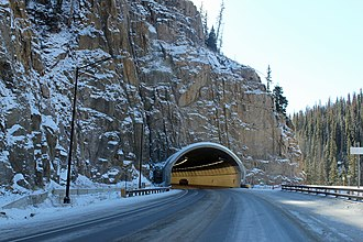 Wolf Creek Pass - The tunnel on the east side of the pass, opened in 2005.
