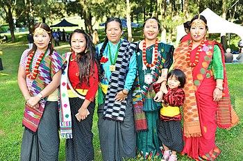 Women in cultural costume at Ubhauli Kirati festival 2017 at Gough Whitlam Park, Earlwood.jpg