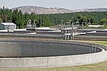 Sewage treatment plant, Australia.