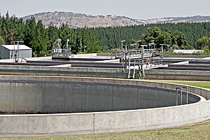 Sanitary sewer overflow - Sewage treatment plant used to create the Wonga Wetlands, Australia