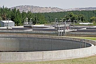 Sanitary sewer overflow - Sewage treatment plant used to create the Wonga Wetlands, Australia
