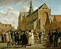 Wybrand Hendriks - Het volksfeest op de Grote Markt in Haarlem op 4 juli 1825 - os I-149 - Frans Hals Museum.jpg
