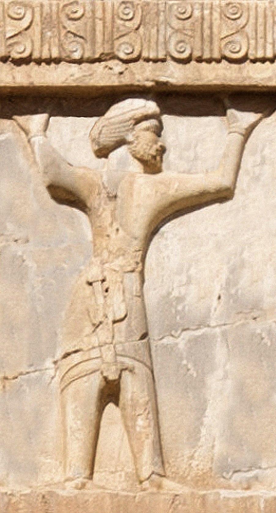 Xerxes I tomb Armenian soldier circa 470 BCE