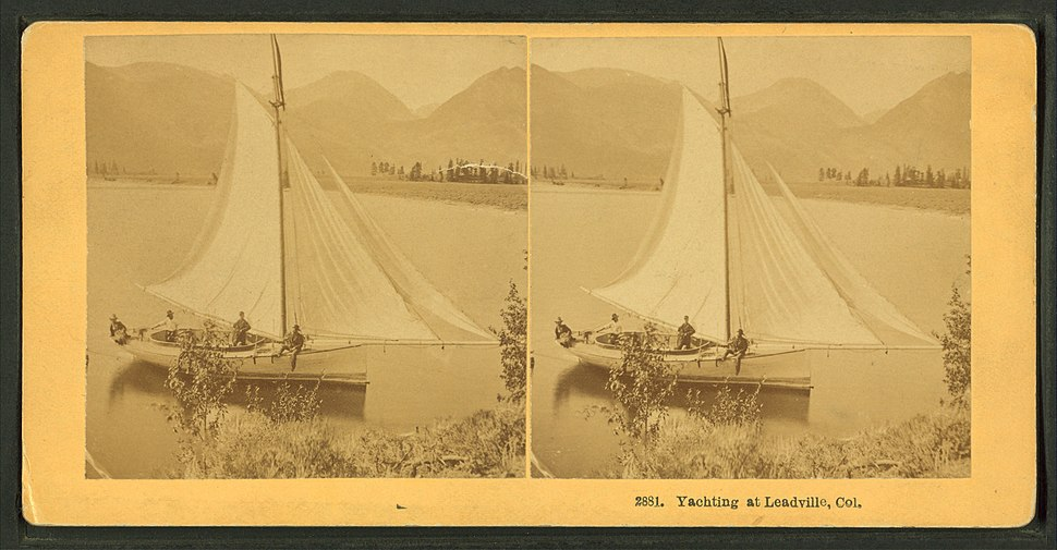 Yachting at Leadville, Col, by Kilburn Brothers