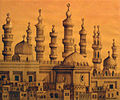 Yehia Dessouki Ink Drawing Ancient Cairo 02.jpg