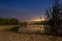 Yeruham lake at night.jpg