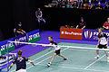 Yonex IFB 2013 - Eightfinal - Łukasz Moreń-Wojciech Szkudlarczyk — Mathias Boe-Carsten Mogensen 03.jpg