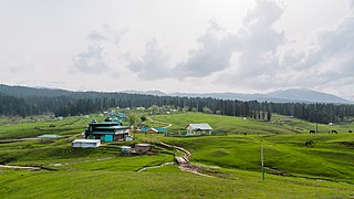 Hill station in Jammu and Kashmir, India