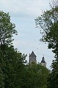 Zamek będziński położony na wysokiej skarpie na lewym brzegu Czarnej Przemszy stanowi przykład budownictwa obronnego z połowy XIV w 4.jpg