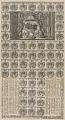Zentralbibliothek Zürich - Wappen von den 55 Mitgliedern des Kleinen Rats von Zürich mit dem Kalender für das Jahr 1703 - 000010431.tif