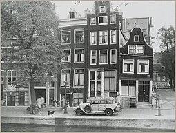 Zicht op gevelwand aan gracht en deel plein - Amsterdam - 20319544 - RCE