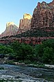 Zion, First Light, Virgin River and Patriarchs 4-30-14g (14206624064).jpg
