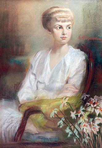 Zofia Atteslander - Image: Zofia Atterslander Portret młodej kobiety z narcyzami