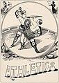 """ATHLETICS"" art detail, Virginia Tech Bugle 1898 (page 139 crop).jpg"