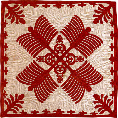 'Na Kalaunu Me Na K(-a-)hili', quilt attributed to Mary Sophia Rice, c. 1886, Honolulu Academy of Arts.jpg