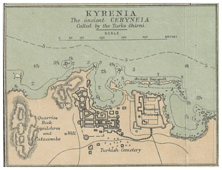 Map of Kyrenia in 1878 (1878) MAP OF KYRENIA.jpg