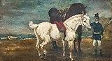 (Albi) Deux chevaux et groom - Toulouse-Lautrec - Musée Toulouse-Lautrec d'Albi.jpg