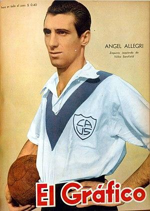 Ángel Allegri - Image: Ángel Allegri (Vélez) El Gráfico 1511